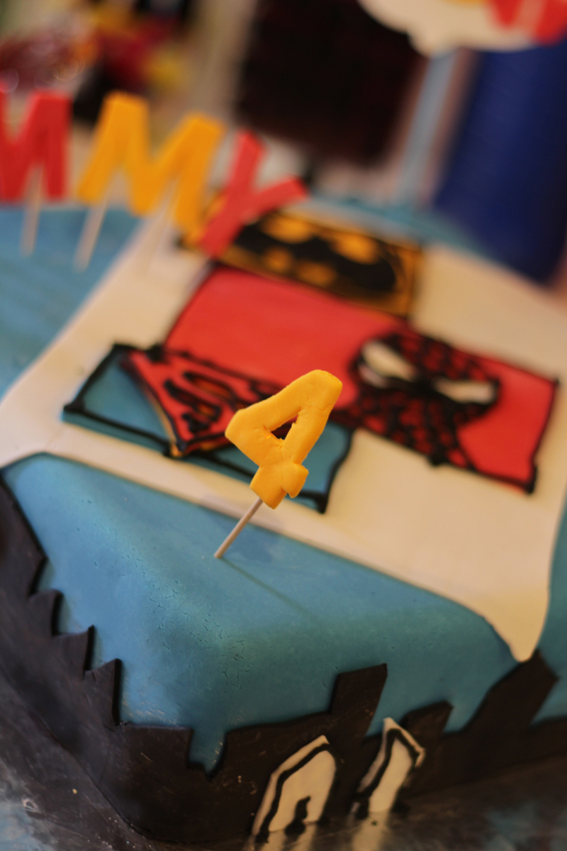 This is an image of a Super Hero cake.