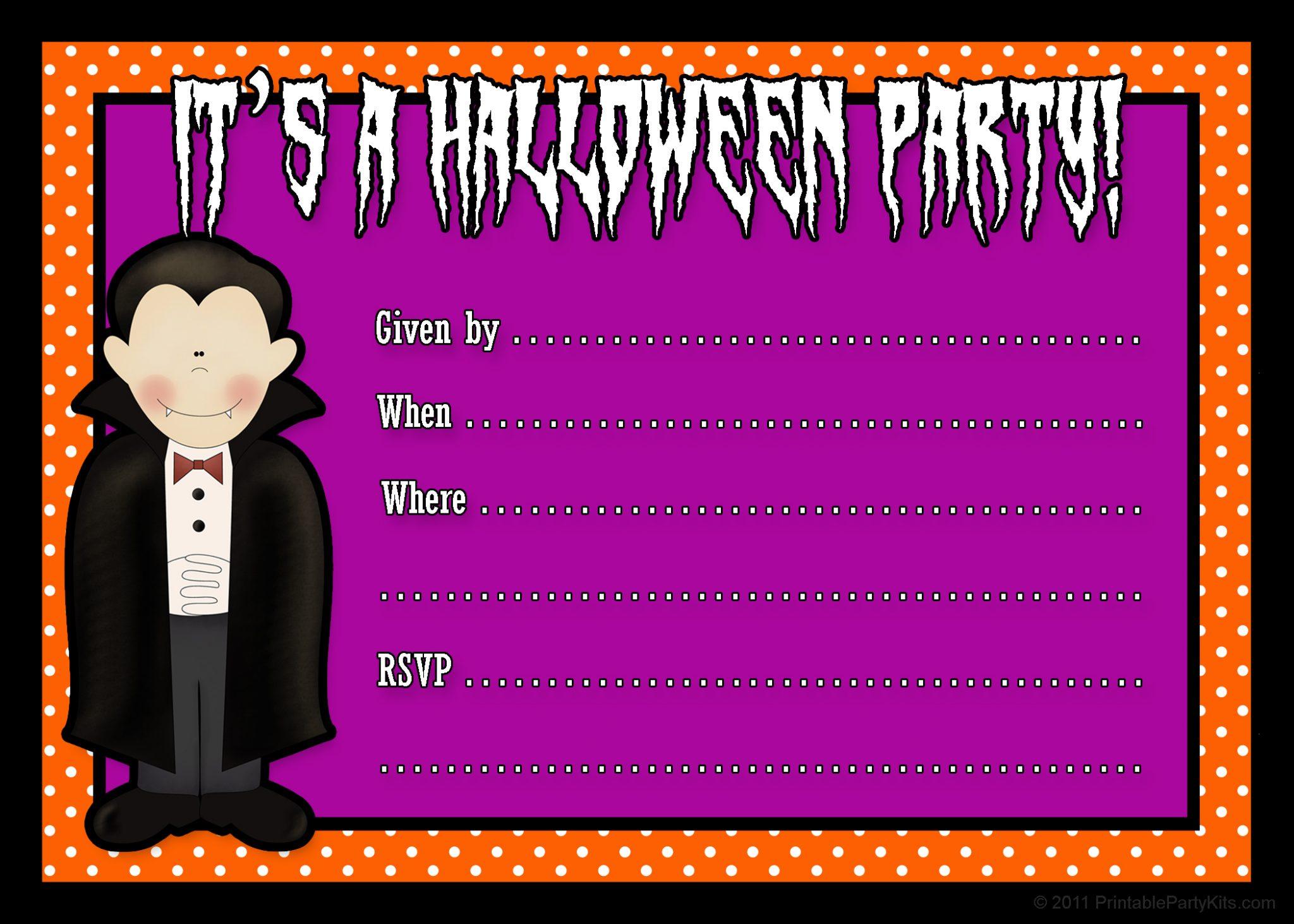 25+ Helping Halloween Invitations