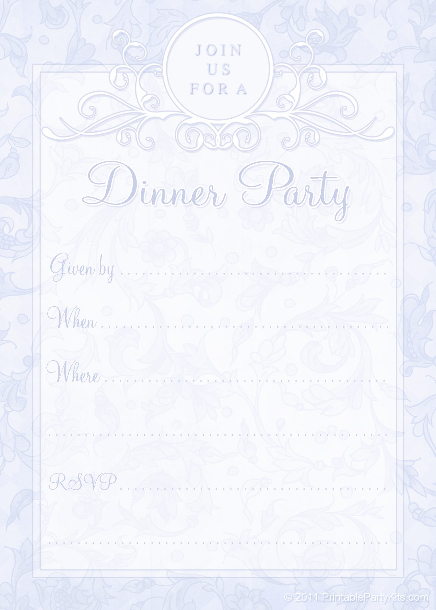 Free Printable Dinner Party Invites