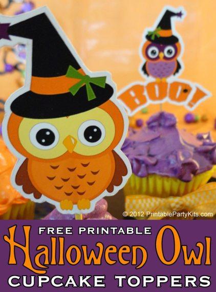 homemade Halloween owl decorations