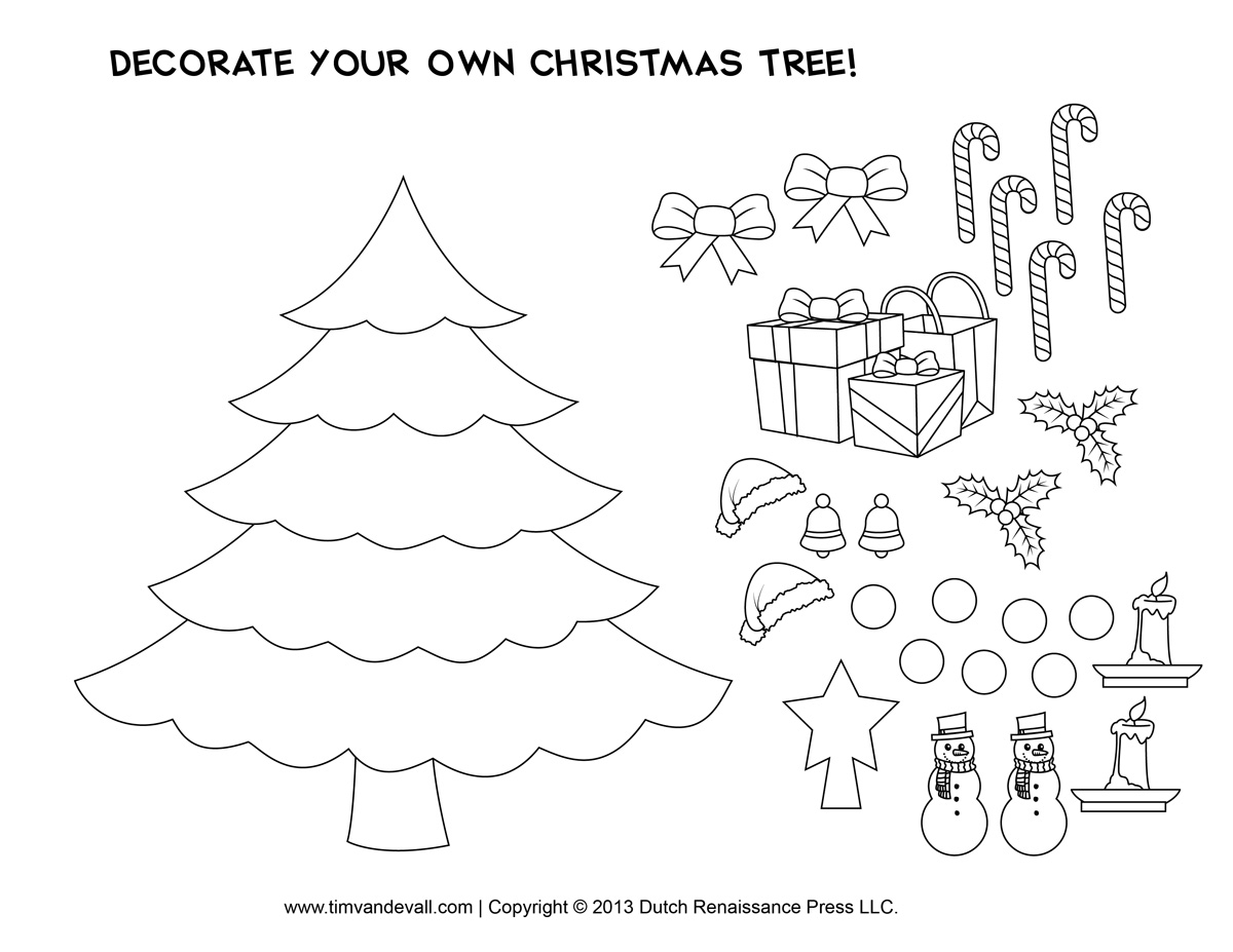 Cut Out Printables For Christmas