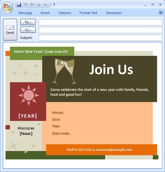 Format Invitation Outlook Invite