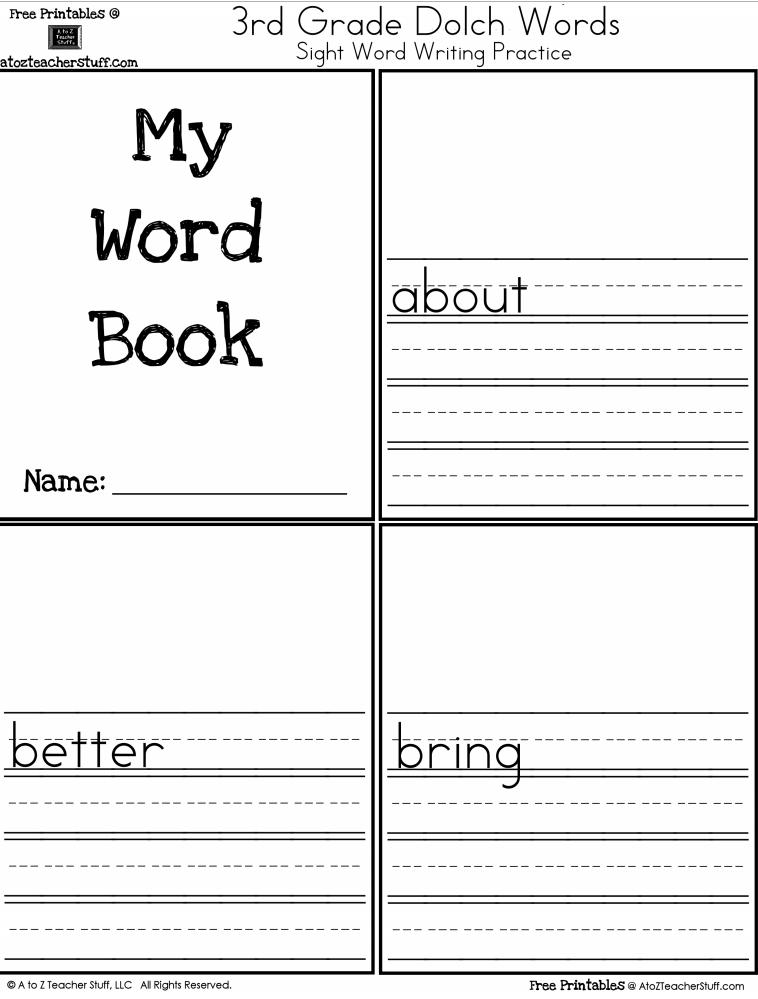 3rd Grade Level Sight Words