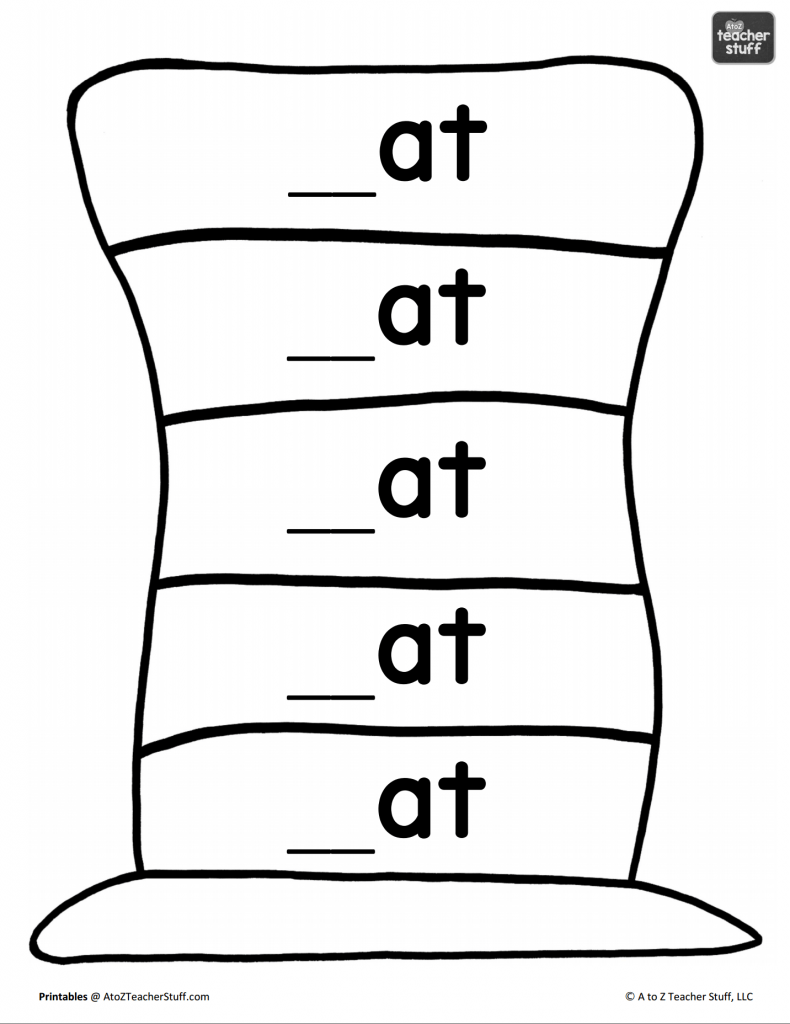 Hat Printables for Dr. Seuss, Cat in the Hat, or Just Hats