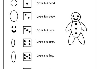Gingerbread Man Printable Lesson Plan Activities Coloring