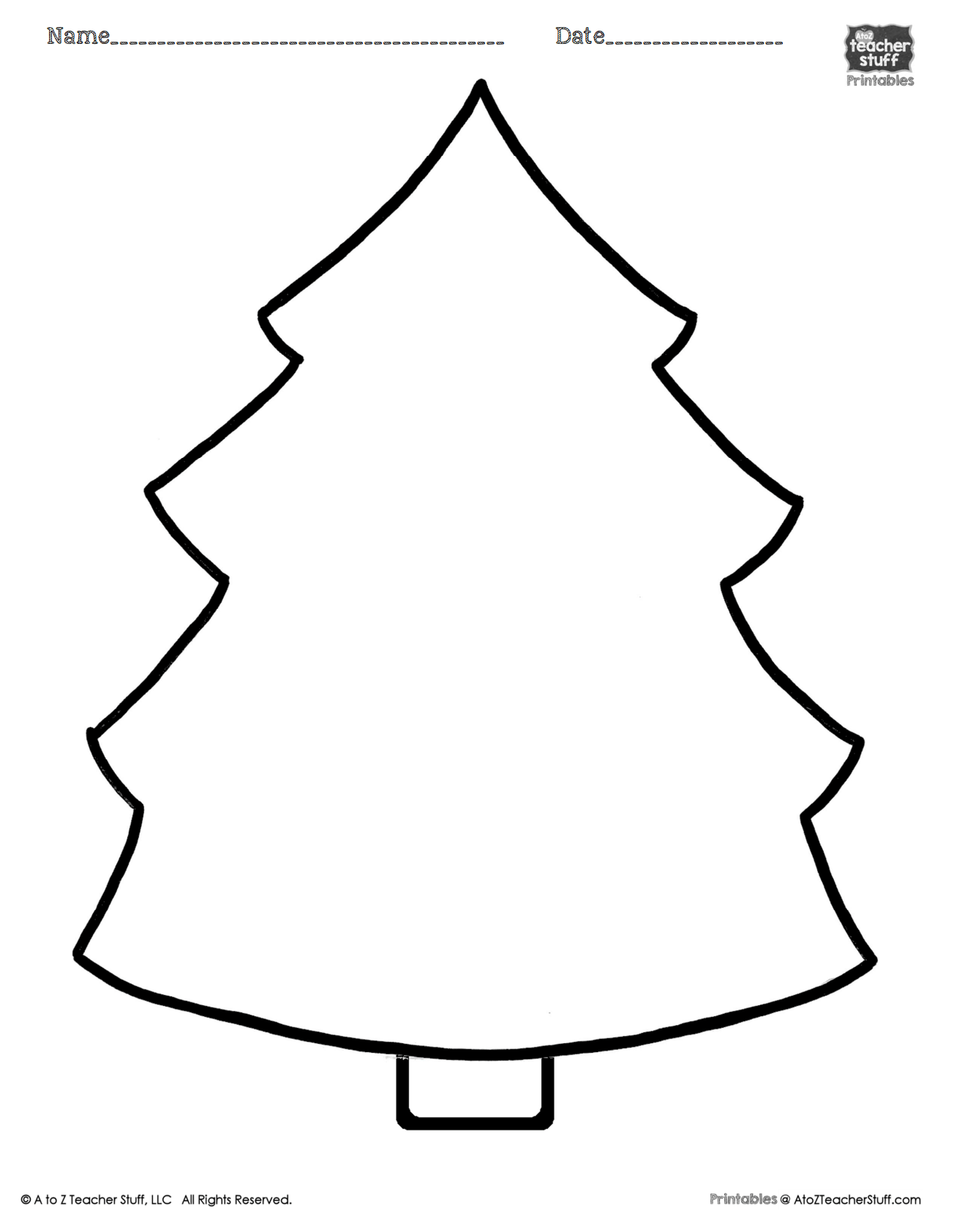 Here Is A Printable Christmas Tree Page You Can Use As A Coloring Sheet Pattern Shape Book