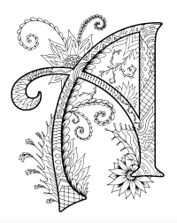 Zentangles Alphabet Coloring Book for Adults and Children
