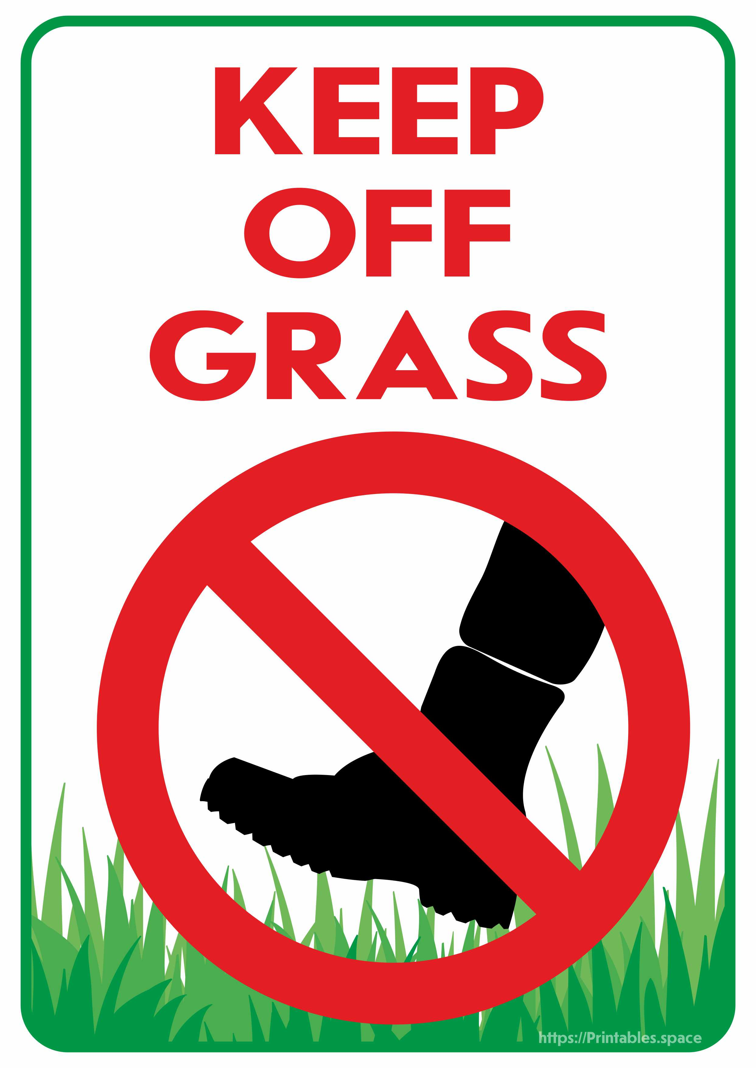 Keep Off Grass Sign  Free Printables