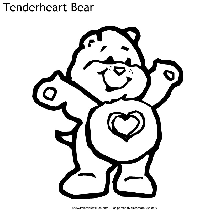 Care Bears Tenderheart Bear Coloring Page : Printables for