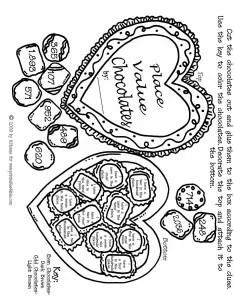valentines greetings math word