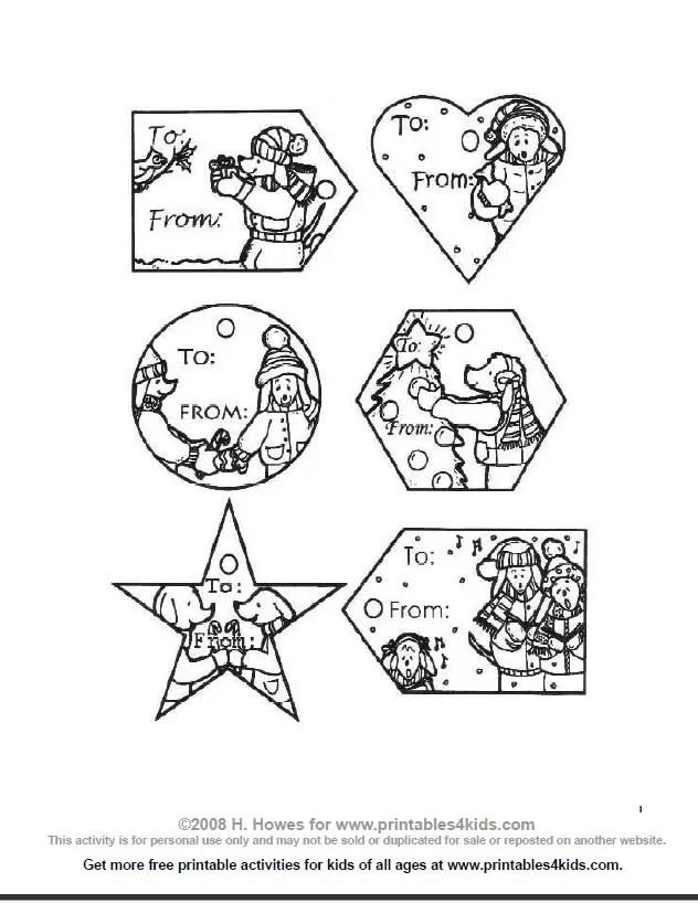 Christmas Gift Tags Free Printable Worksheet For