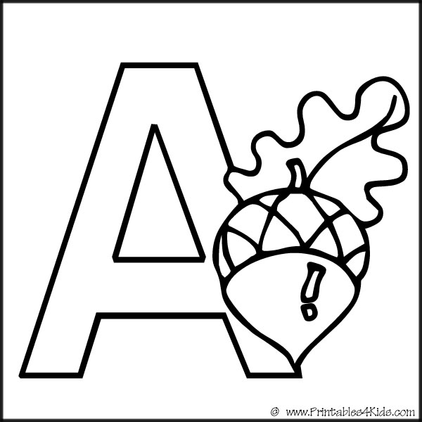 alphabet-coloring-a : Printables for Kids