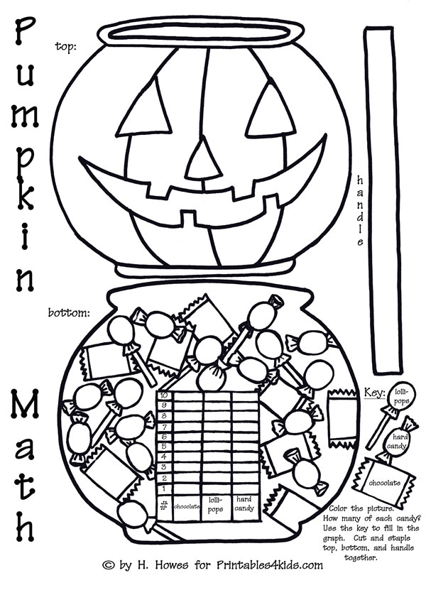 Halloween Pumpkin Math Graphing Worksheet : Printables for