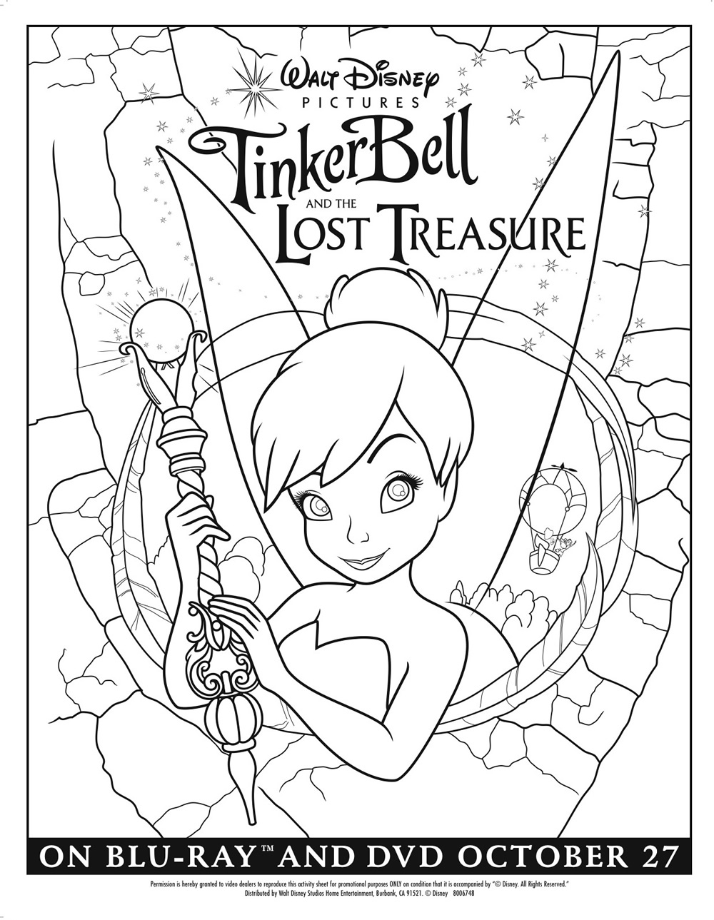 Tinker Bell and the Lost Treasure Coloring Page