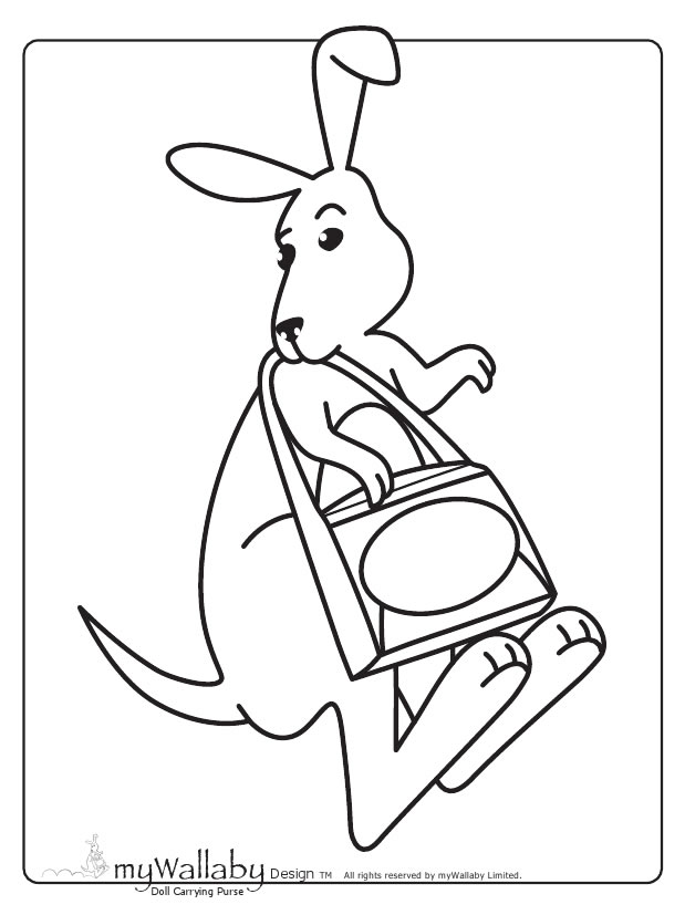 MyWallaby Kangaroo Coloring Page : Printables for Kids