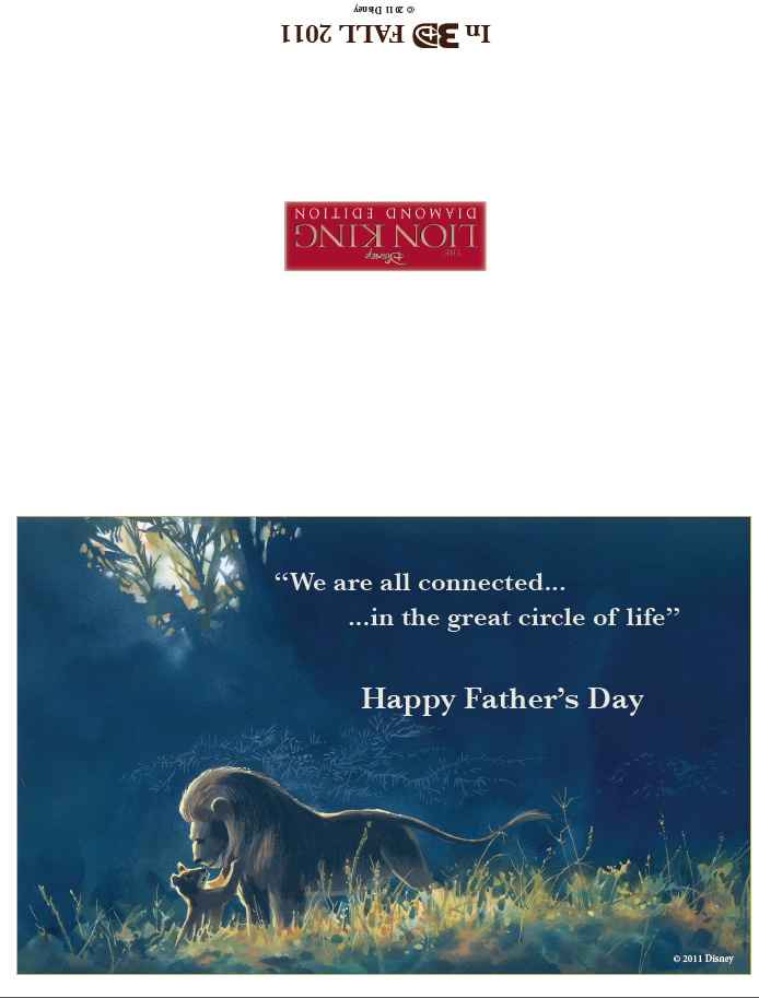 Lion King Fathers Day Card Printables For Kids Free