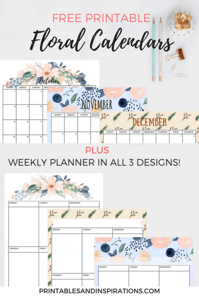 16 DIY Organization Projects: 2018 Free Printable Calendars (Part 2)