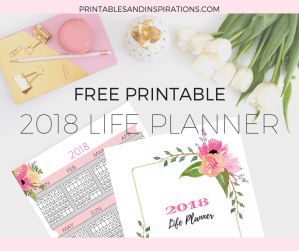 Free pink calendar, life planner, weekly planner, habit tracker, daily log, journal, brain dump, inspirational, floral