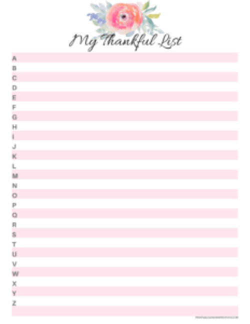 Gratitude journal, thankful printables, planner stickers, attitude of gratitude