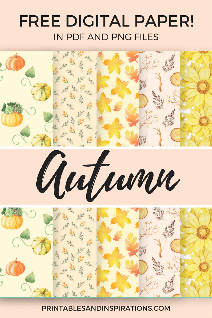 Free Printable Autumn Digital Paper Seamless Pattern For Scrapbooking Printables And Inspirations