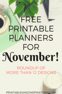 free printable planners for November 2017, monthly planner, weekly planner, habit tracker, journal, free 2017 calendar printables