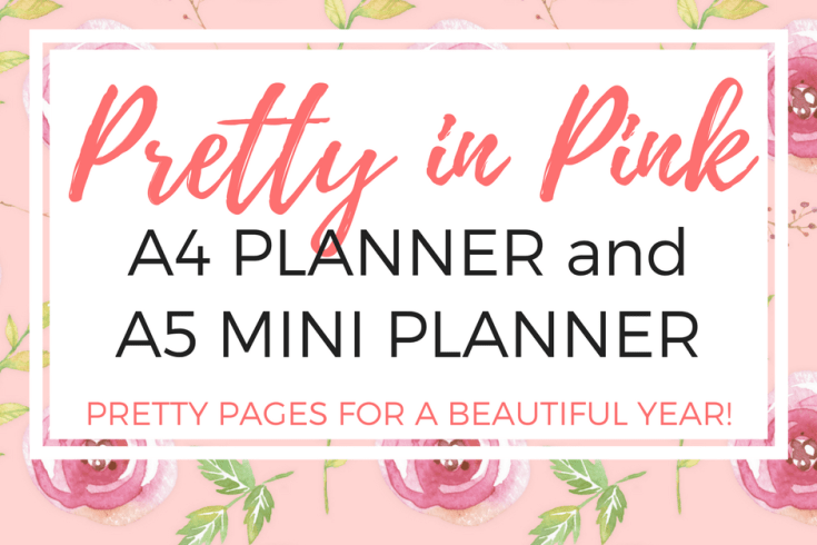 pink planner pages, free printable planners, weekly planner, pink calendar, bullet journal pages, mini planner