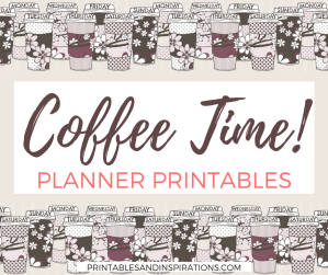 free planner printables, free planner stickers, binder cover, planner divider, coffee tumbler