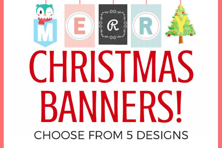 Christmas banner free printable Christmas decorations and Christmas ideas