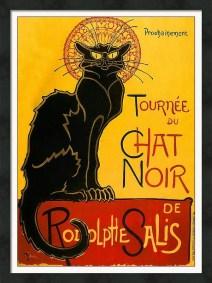 Le Chat Noir Framed Art Print