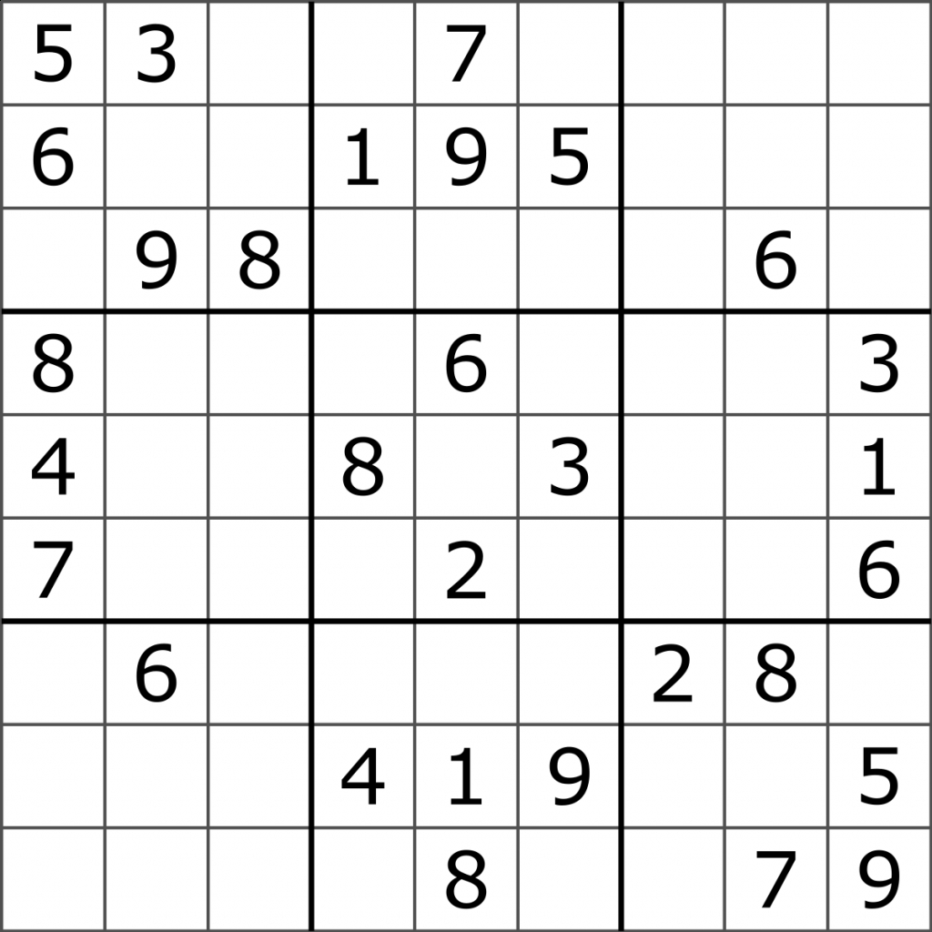 Color Sudoku Printable