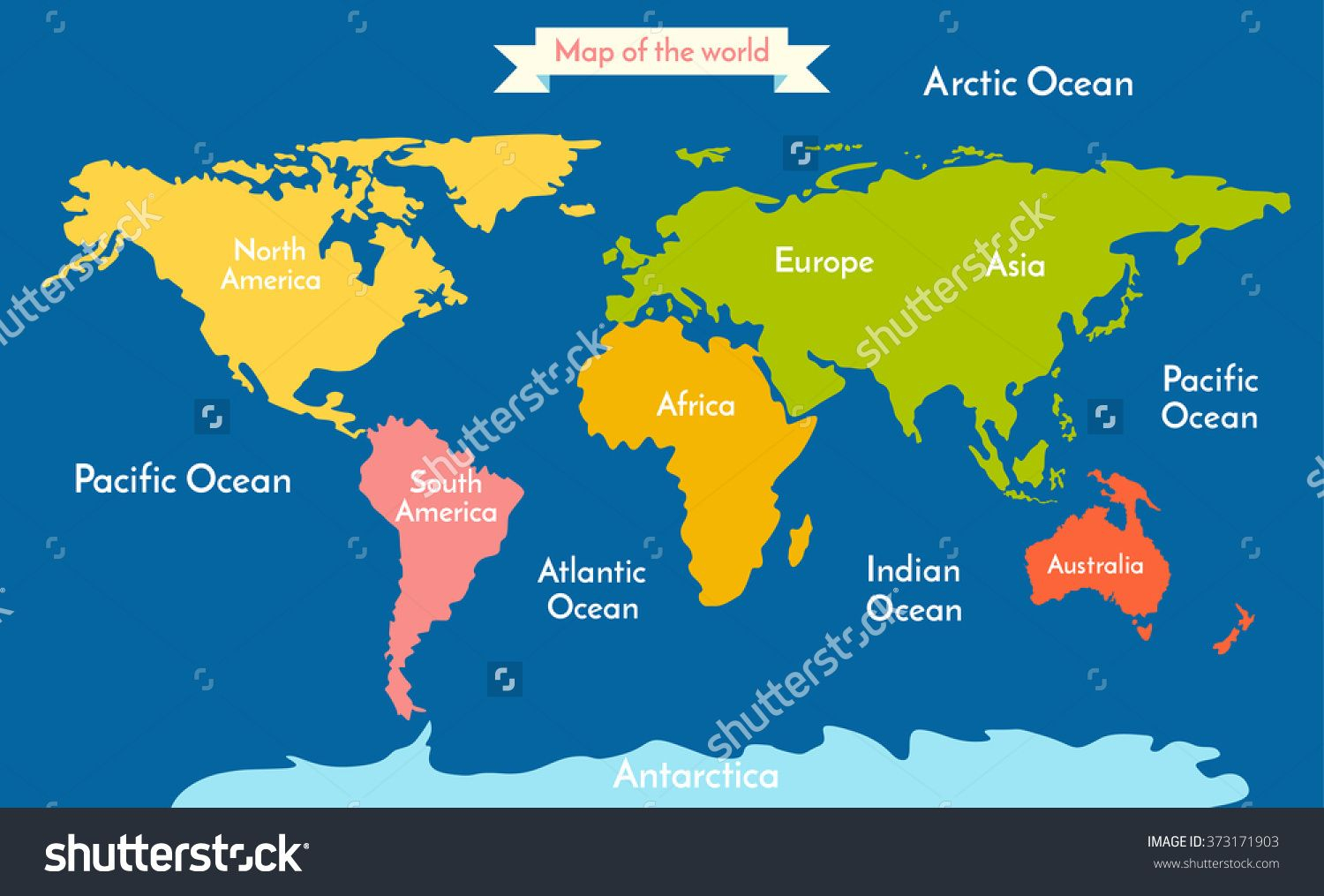 Printable Map Of The 7 Continents And 5 Oceans