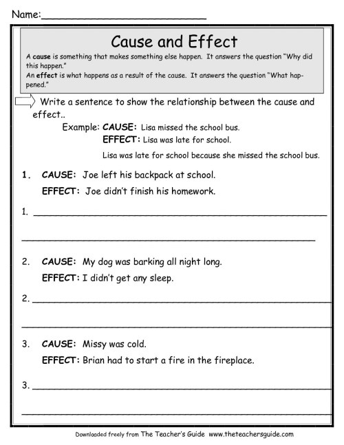 small resolution of Flashlight Cause And Effect Worksheet   Printable Worksheets and Activities  for Teachers