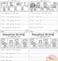 1st Grade Story Sequencing Worksheets   Printable Worksheets and Activities  for Teachers [ 2560 x 2000 Pixel ]