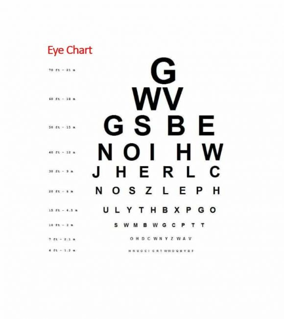 Eye Chart Template | Printable Eye Test Chart Uk Anexa Market