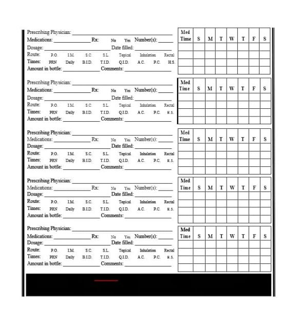 58 Medication List Templates for any Patient [Word, Excel