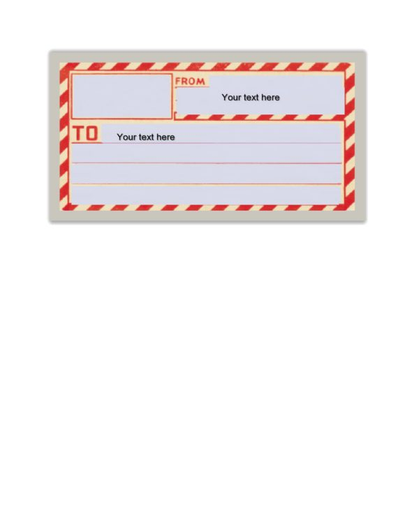 Homemade Shipping Label : homemade, shipping, label, Printable, Shipping, Label, Templates, (Free)