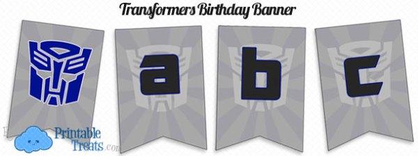 Printable Transformers Birthday Banner Printable Treatscom
