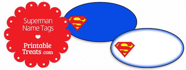 Printable Superman Name Tags — Printable Treats Com