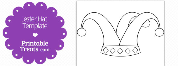 Printable Jester Hat Shape Template Printable