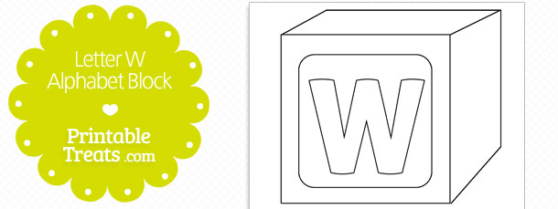 Printable Letter W Alphabet Block Template — Printable