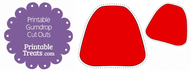 Printable Red Gumdrop Cut Outs Printable