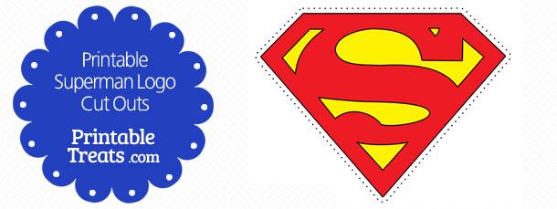 Printable Superman Logo Cut Outs — Printable Treats Com