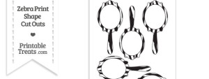 Printable Hand Mirror Shape Template