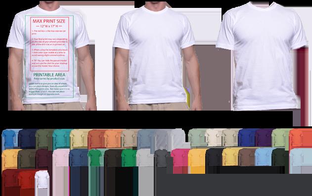 Download T-Shirt Mockup Templates to Help Display T-Shirt Designs ...