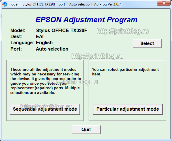 Adjustment program Epson BX305F, TX320F, TX325F, WorkForce 325, WorkForce 323, ME OFFICE 620F сброс памперса