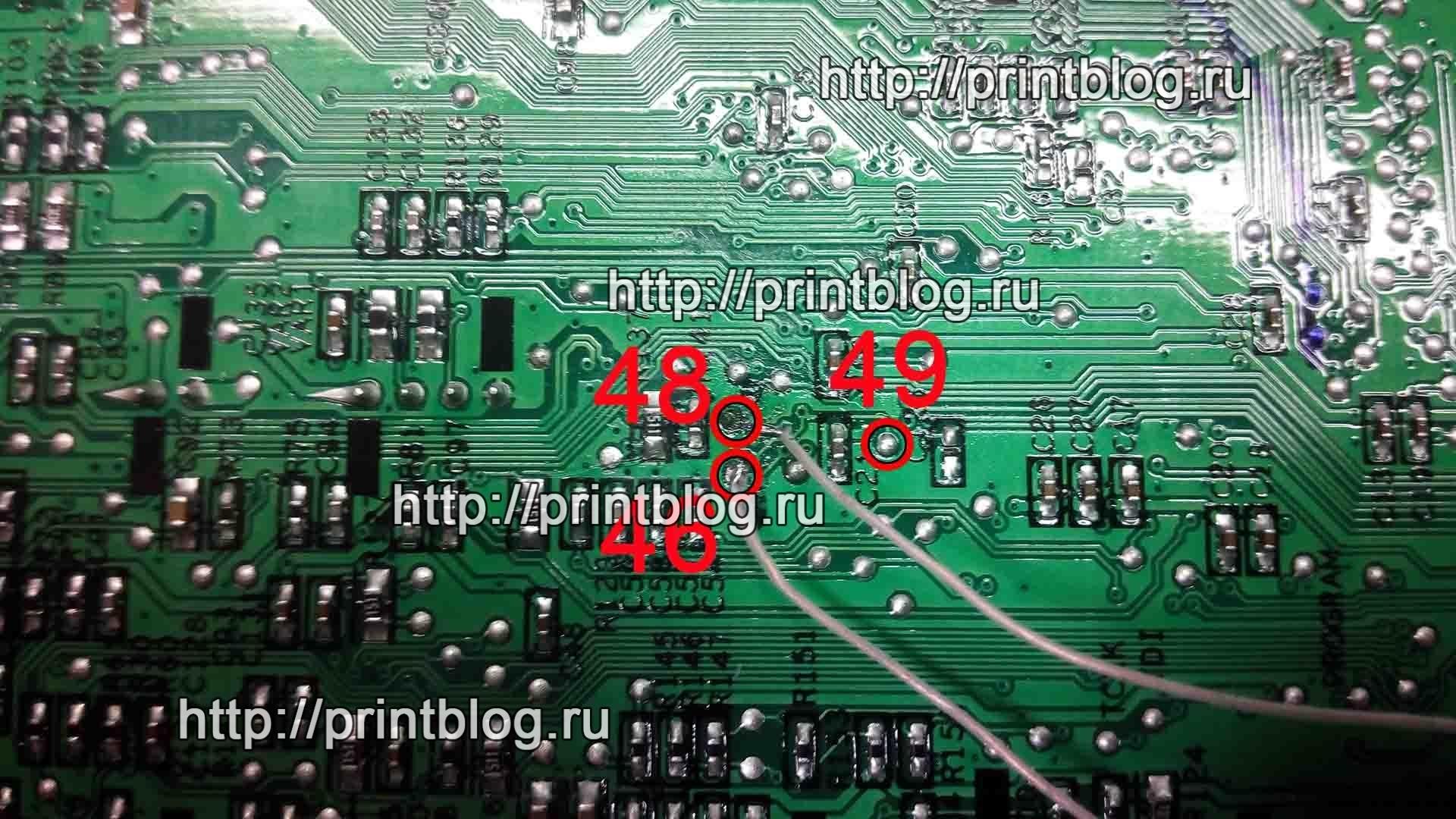 Схема подключения к процессору Jupiter4E Xerox 3155, Samsung ML-2525, ML-2520, ML-1910_1