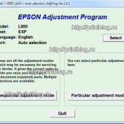 Adjustment program L850