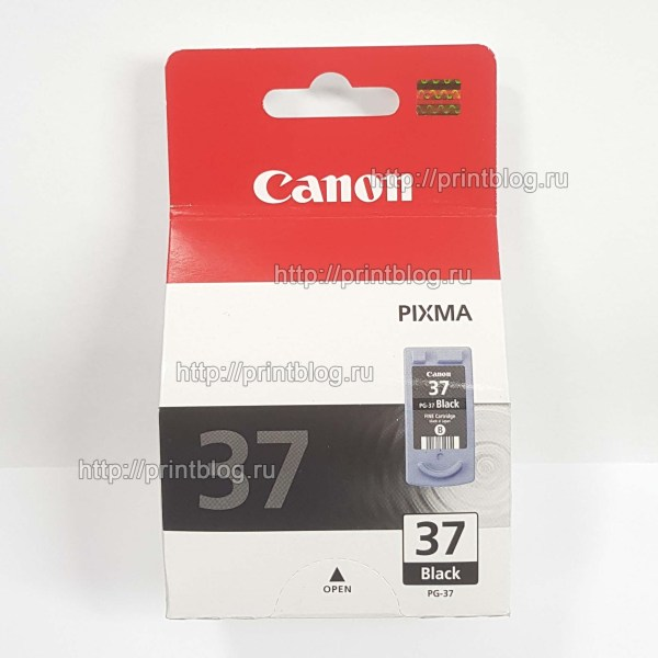 Картридж Canon PG-37 Black для Canon IP1900, MP190, MP210, MP220 и др. (2145B005)