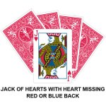 Jack Of Hearts With Hearts Missing Gaff Card