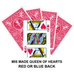Mis Made Queen Of Hearts Gaff Playing Card